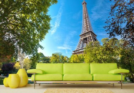 Holiday destination Paris giant wall mural